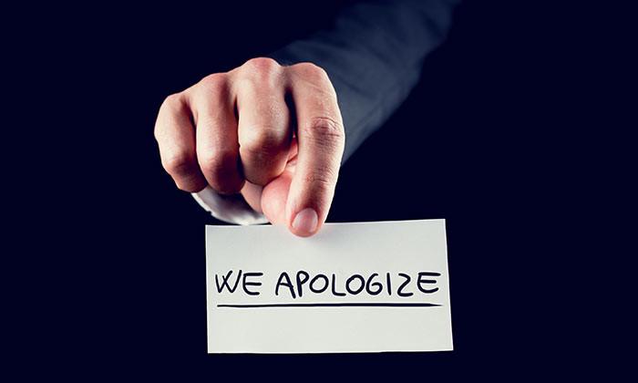 We apologise