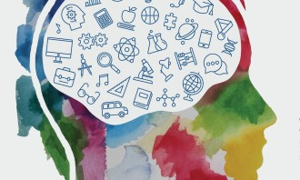 Watercolor_Banner_With_Child_Head_Including_Education_Icons_Set