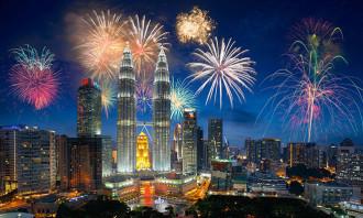 Kuala lumpur fireworks