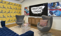 Pepsi's new content studio, called Creators League, features a social wall and a multi-use recording studio