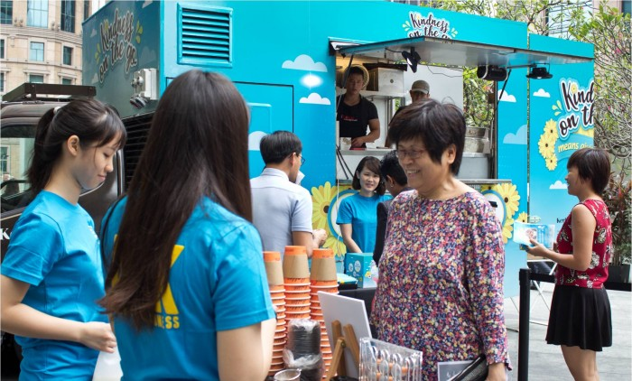 Singapore Kindness Movement Food Truck Bus