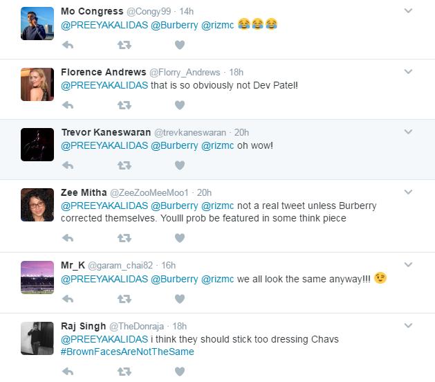 Burberry responses