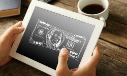 Digital money dollars 123rf