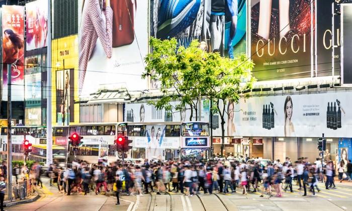Causeway Bay rush in Hong Kong island