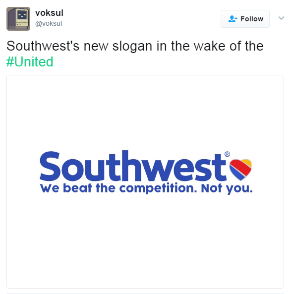 Competitors troll United while netizens suggest new taglines