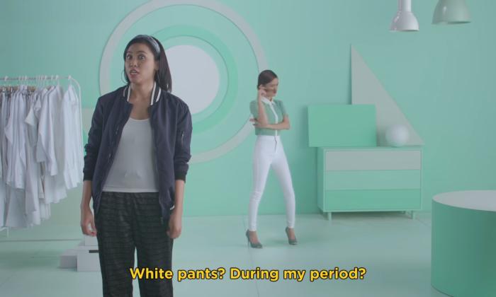 Libresse white pants