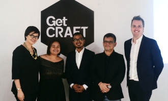 From L: GetCRAFT Managing Director - PH : Kate Delos Reyes iProspect Managing Director : Shayne Garcia Dentsu Jayme Syfu Chief Experience Officer : Pao Pena Castle By The River Founder : Eduardo Mapa Jr. GetCRAFT Co-Founder and Group CEO : Patrick Searle