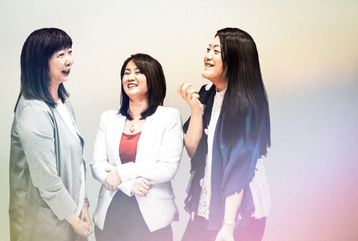 Left to right: Yvonne Chau, May Chung and Alexandra Lo.