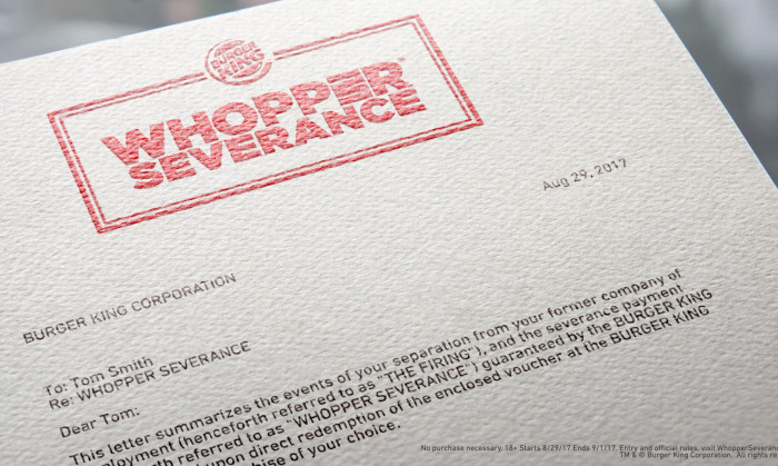 Burger King Whopper Severance 2