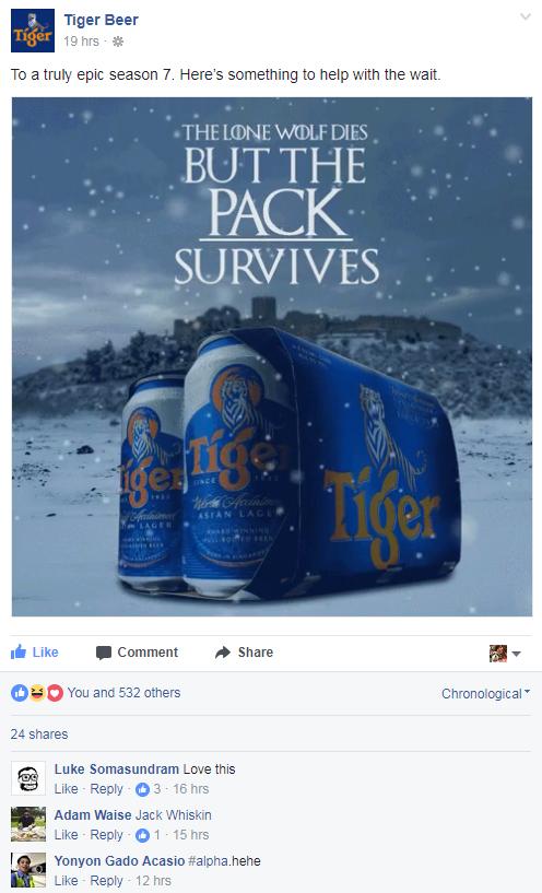 Tiger Beer GoT