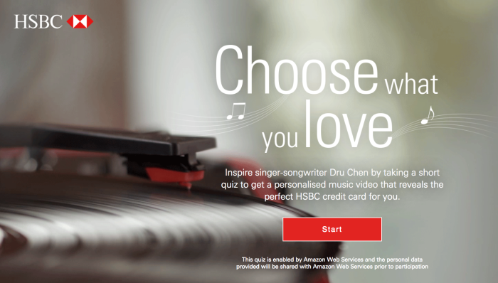 Hsbc launches data driven interactive campaign to promote credit tags reheart Images