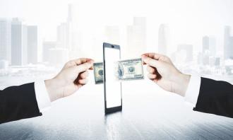 Mobile spend money 123rf