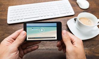 mobile video 123rf