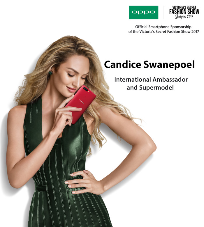 International Ambassador and Supermodel Candice Swanepoel with OPPO R11s
