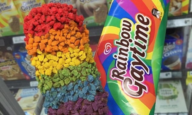 Gold Gaytime rainbow