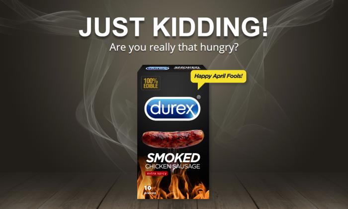 Durex Smoke Sausage condom