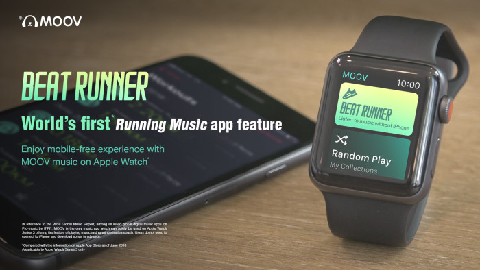"MOOV launches ""Beat Runner"" featured on Apple Watch Series 3"