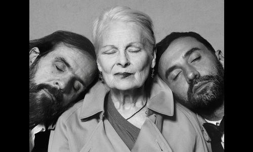 (From left) Andreas Kronthaler, Vivienne Westwood,  Riccardo Tisci