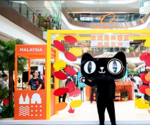 The 'Malaysia Week' Offline Pop up Exhibition at the Kerry Centre, an upscale shopping centre located in the heart of Hangzhou, promoting local Malaysian brands such as Aik Cheong coffee, Julie's and Boh Tea, among others from 6 to 8 July 2018.